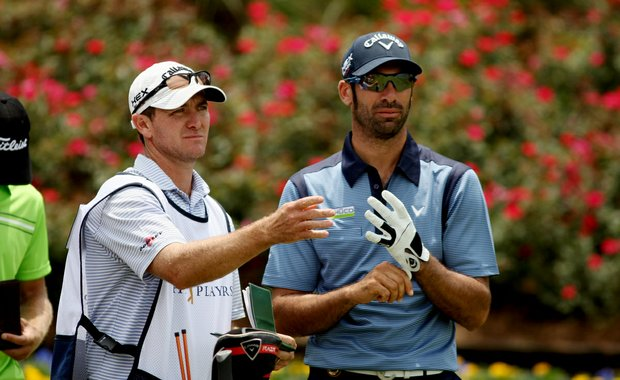 Alvaro Quiros at No. 18 on Saturday at The Players Championship at TPC Sawgrass. Quiros moved up 5 spots after shooting a 72 on Saturday.