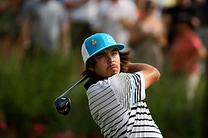 Rickie Fowler tees off at No. 18 on Saturday at The Players Championship at TPC Sawgrass.