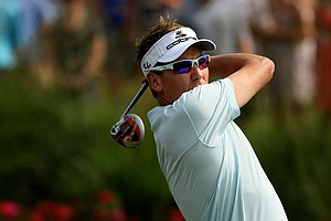 Ian Poulter at No. 18 on Saturday at The Players Championship at TPC Sawgrass.