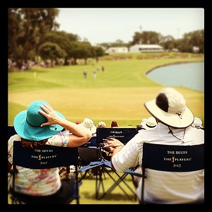 An instagram view of the Hole No. 18 on Saturday at The Players Championship at TPC Sawgrass.