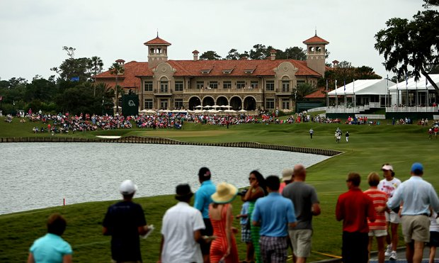 The clubhouse during the final round at The Players Championship at TPC Sawgrass.