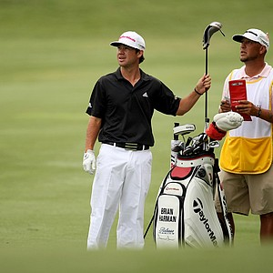 Brian Harman at No. 16 during the final round at The Players Championship at TPC Sawgrass.