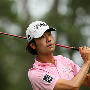 Kevin Na watches his tee shot at No. 6 during the final round at The Players Championship at TPC Sawgrass.