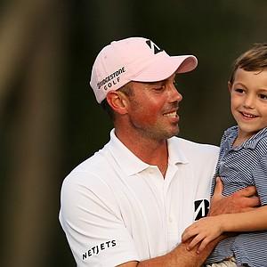 Matt Kuchar with his son Cameron, 4, after winning The Players Championship at TPC Sawgrass.