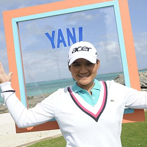 "World No. 1 Yani Tseng visited the set of ""Big Break Atlantis."""