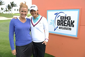 """Big Break"" co-host Stephanie Sparks with Yani Tseng."