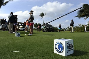 "On the set of Golf Channel's ""Big Break Atlantis."""