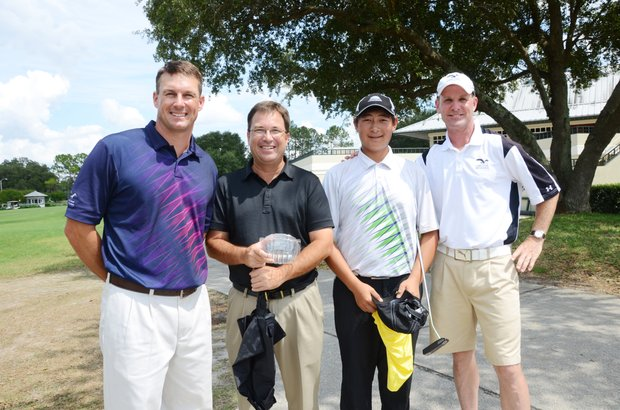 EaglesDream Golf Academy's team at the U.S. Open local qualifier at Timacuan Country Club (from left): Tim Sheredy, Bill Nelson, Carl Yuan and Dan Saylor.
