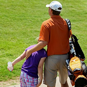 Jordan Spieth of Texas gets a hug from his sister, Ellie, 10 after the final round of the Southwest Regional Championship. Spieth finished T7 individually.