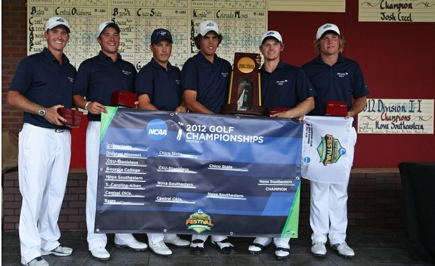 Nova Southeastern after winning its first NCAA Division II National Championship.
