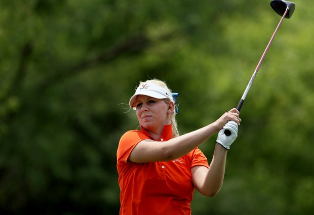 Portland Rosen of Virginia posted a 66 on Tuesday at the 2012 NCAA Division I Women's Golf Championships at Vanderbilt Legends Club North Course in Franklin, Tenn.