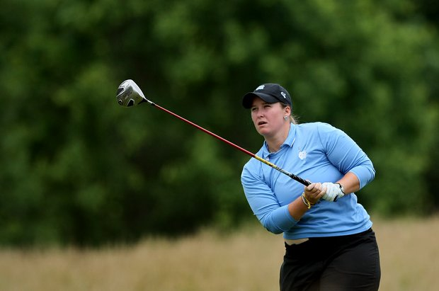 North Carolina's Catherine O'Donnell on Tuesday at the 2012 NCAA Division I Women's Golf Championships. O'Donnell posted a 68 in Round 1.