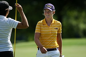 LSU's Austin Ernst during Round 1 on Tuesday at the 2012 NCAA Division I Women's Golf Championships.