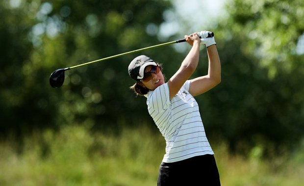 Vanderbilt's Marina Alex on Tuesday at the 2012 NCAA Division I Women's Golf Championships at Vanderbilt Legends Club.