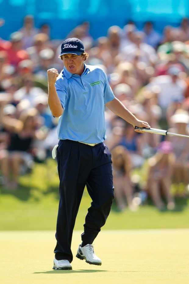 Jason Dufner drained a 25-foot birdie putt on the 72nd hole to win the Byron Nelson Championship.