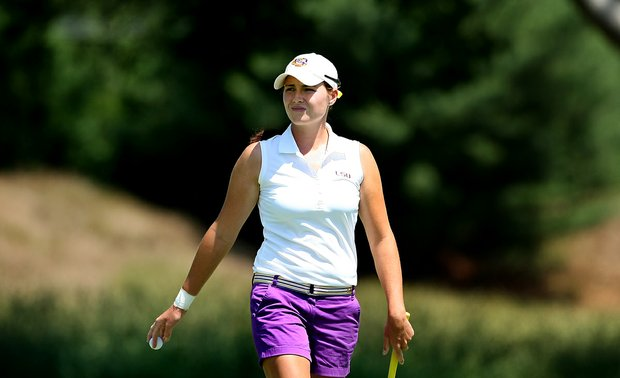 LSU's Tessa Teachman on Wednesday at the 2012 NCAA Division I Women's Golf Championships at Vanderbilt Legends Club.