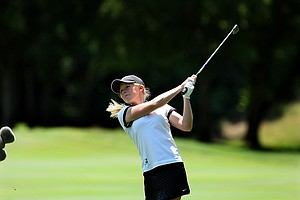 Alabama's Stephanie Meadow hits a shot at No. 13 on Wednesday at the 2012 NCAA Division I Women's Golf Championships.