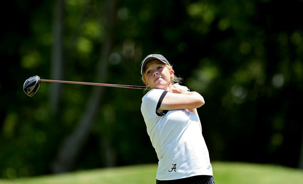Alabama's Stephanie Meadow at No. 14 on Wednesday at the 2012 NCAA Division I Women's Golf Championships.