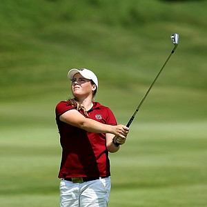 Katie Burnett of South Carolina on Thursday at the 2012 NCAA Division I Women's Golf Championships. Burnett is T5 after the third round.