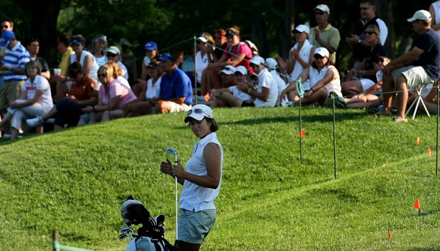 Marina Alex of Vanderbilt at No. 9 on Thursday at the 2012 NCAA Division I Women's Golf Championships.