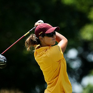 Arizona State's Giulia Molinaro hits her tee shot at No. 10 during the final round of the 2012 NCAA Division I Women's Golf Championships.