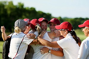Alabama celebrates winning the 2012 NCAA Division I Women's Golf Championships at Vanderbilt Legends Club.