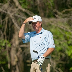 Kirk Hanefeld, PGA club professional, on 13 during the second round of play at the 73rd Senior PGA Championship, presented by KitchenAid held at Harbor Shores in Benton Harbor, Michigan, USA, on Friday, May 25, 2012.