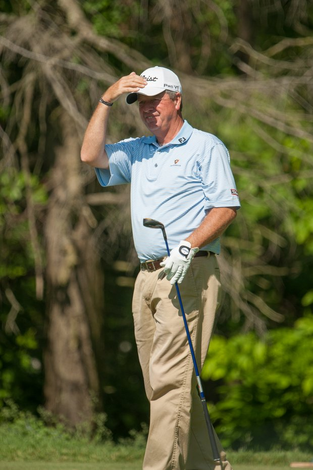 Kirk Hanefeld, PGA club professional, on 13 during the second round of play at the 73rd Senior PGA Championship, presented by KitchenAid held at Harbor Shores in Benton Harbor, Michigan, USA, on Friday, May 25, 2012.