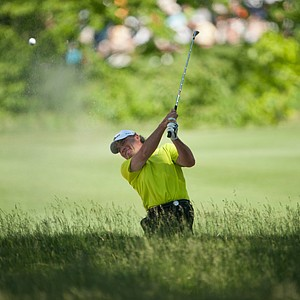 Bill Israelson, PGA club professional, on 12 during the second round of play at the 73rd Senior PGA Championship, presented by KitchenAid held at Harbor Shores in Benton Harbor, Michigan, USA, on Friday, May 25, 2012.