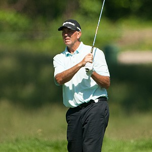 Tom Lehman on 12 during the second round of play at the 73rd Senior PGA Championship, presented by KitchenAid held at Harbor Shores in Benton Harbor, Michigan, USA, on Friday, May 25, 2012.