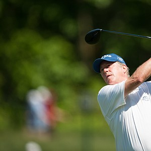 Michael Allen on 12 during the second round of play at the 73rd Senior PGA Championship, presented by KitchenAid held at Harbor Shores in Benton Harbor, Michigan, USA, on Friday, May 25, 2012.