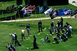 The driving range during the 2012 NCAA Championship at Riviera Country Club in Pacific Palisades, Calif.