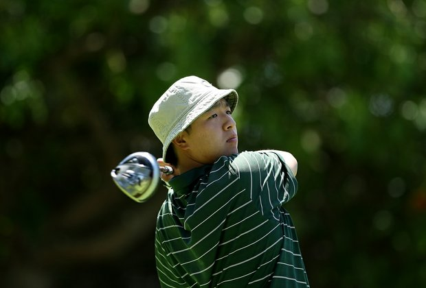 Oregon's Eugene Wong at No. 11 during the 2012 NCAA Championship at Riviera Country Club in Pacific Palisades, Calif.