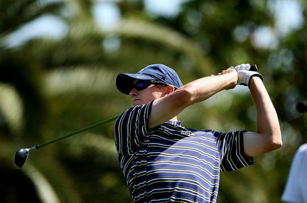Brandon Hagy of University of California during the 2012 NCAA Championship at Riviera Country Club in Pacific Palisades, Calif.
