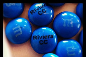Riviera Country Club and NCAA logo M&Ms during the 2012 NCAA Championship at Riviera Country Club in Pacific Palisades, Calif.