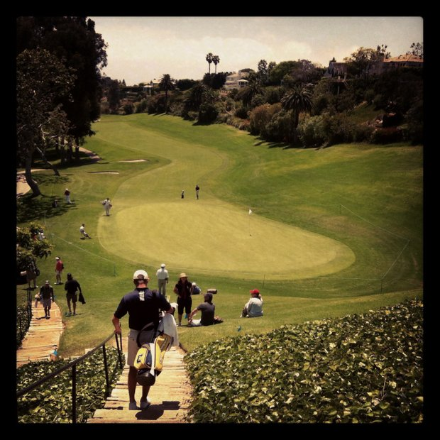 View of No. 18 during the 2012 NCAA Championship at Riviera Country Club in Pacific Palisades, Calif.