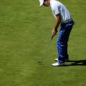 Patrick Cantlay just misses his putt at No. 18 during the 2012 NCAA Championship at Riviera Country Club. He made bogey.