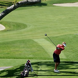 Niclas Carlsson of Auburn hits his tee shot at No. 3 during the 2012 NCAA Championship. Carlsson posted a 77 in Round 2.
