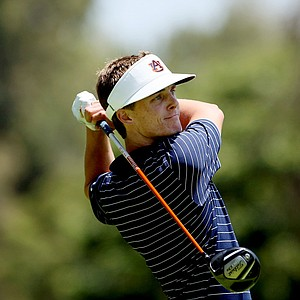 Auburn's Blayne Barber at No. 15 during the final round of stroke play.
