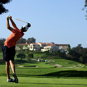 Thomas Pieters of Illinois hits his tee shot at No. 9 during the final round of stroke play at the 2012 NCAA Championship.