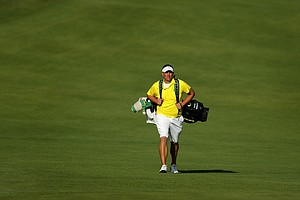 Oregon's Daniel Miernicki walks up No. 1 during the final round of stroke play at the 2012 NCAA Championship.
