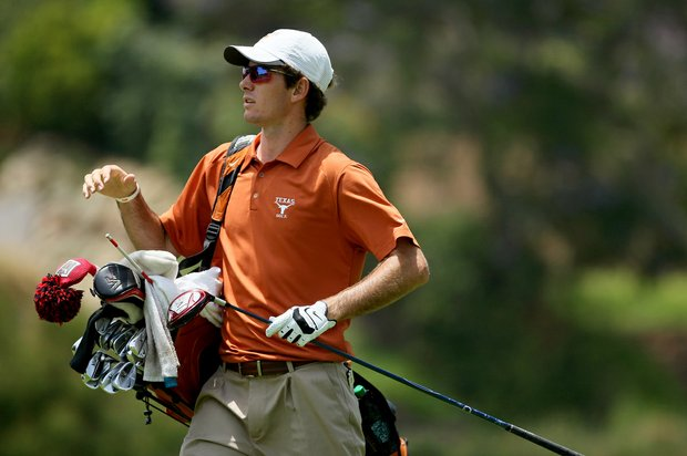 Texas Dylan Frittelli walks off the No. 3 tee during the first day of Match Play at the 2012 NCAA Championship at Riviera Country Club in Pacific Palisades, Calif.