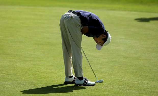 UCLA's Anton Arboleda missed his putt at No. 18 and was defeated by Oregon's Eugene Wong during the first day of Match Play. Oregon will go on to face Texas in the Semifinals.