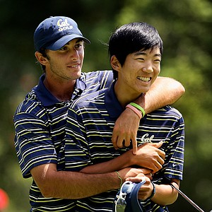 Max Homa and Michael Kim of California won their matches during semifinals of Match Play but it wasn't enough to beat Alabama at the 2012 NCAA Championship.