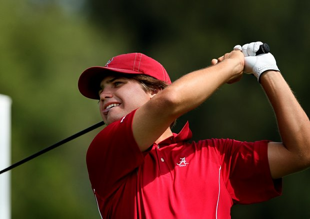 Alabama's Bobby Wyatt during the finals of match play at the 2012 NCAA Championship at Riviera Country Club.