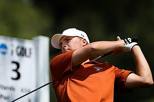 Jordan Spieth of Texas during the finals of match play at the 2012 NCAA Championship at Riviera Country Club.