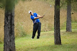 D.J. Tozier plays a shot on the 10th hole during the 2012 U.S. Open Sectional Qualifying at The River Club in Suwanee, Ga.