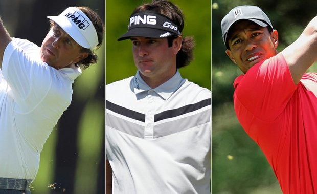 Phil Mickelson, Bubba Watson and Tiger Woods will play the first two rounds together at Olympic Club.