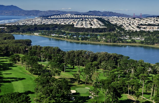 The third hole of The Olympic Club's Lake Course in San Francisco, Calif. as seen on Tuesday, Nov. 8, 2011.