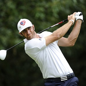 Dustin Johnson hits a drive on the seventh hole during the final round of the FedEx St. Jude Classic at TPC Southwind.